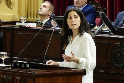 La diputada de Unidas Podemos, Antonia Matín, ha promovido la proposición no de ley.