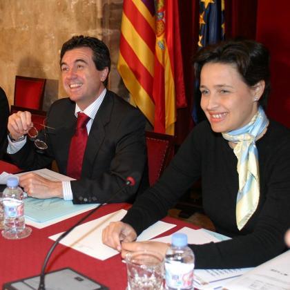 Jaume Matas y Aina Castillo, en una imagen de archivo.