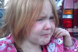 La pequeña Abigael ha hecho furor en internet.