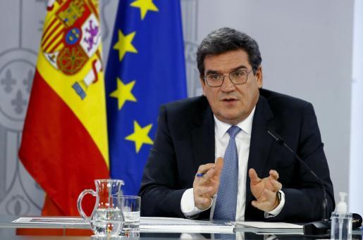 El ministro de Inclusión, Seguridad Social y Migraciones, José Luis Escrivá, en rueda de prensa tras reunión del Consejo de Ministros.
