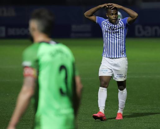 El delantero blanquiazul Vinicius Tanque durante un reciente partido de su equipo.