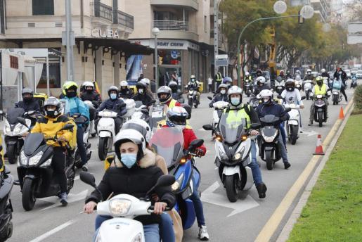 Protesta de los 'Riders' en Palma.