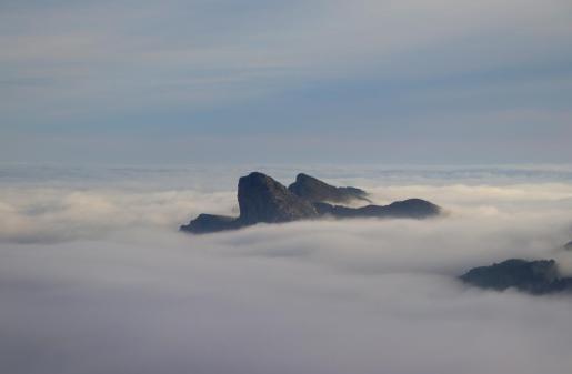 Hermosa imagen de nubes en Mallorca.