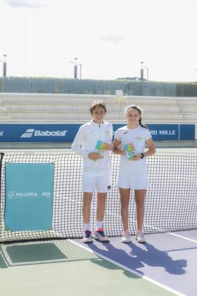 Los tenistas Pedro y Cristina Díaz Adrover.