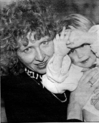Beate Josefine Werner con una de sus hijas.