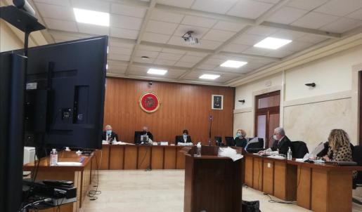 El acusado ha declarado a través de videoconferencia desde la cárcel de Palma.