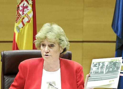 Soledad Becerril, durante la presentación del informe de gestión de la institución de 2011.
