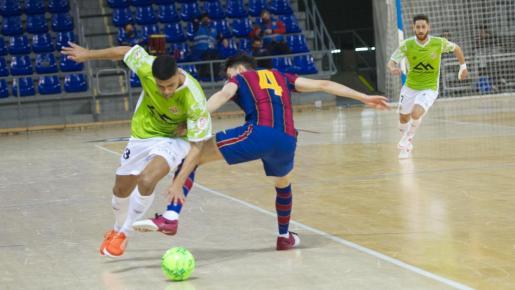 El Barça venció por 2-1 al Palma Futsal.