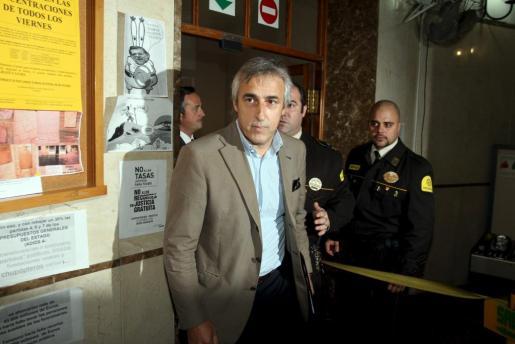 Antoni Juaneda, en los juzgados de Palma.