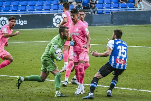 Imagen del partido disputado entre el Espanyol y el Mallorca en Barcelona.