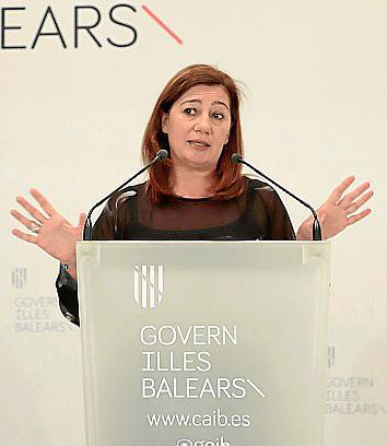 La presidenta del Govern balear Francina Armengol.