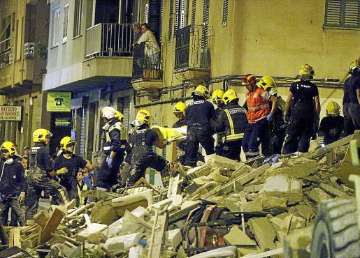El derrumbe del edificio de la calle Rodríguez Arias se produjo en octubre de 2008.