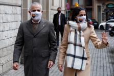 El candidato de Ciudadanos a la presidencia de la Generalitat, Carlos Carrizosa, junto a la presidenta del partido, Inés Arrimadas