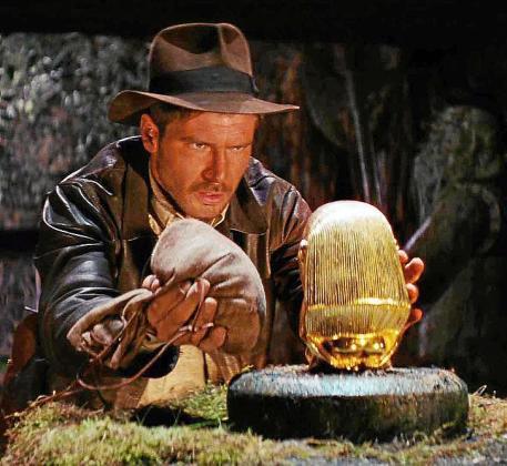 El actor Harrison Ford como Indiana Jones.