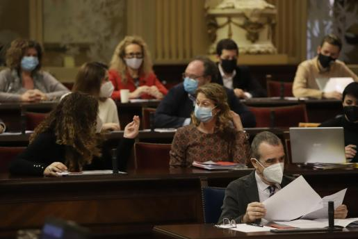 Imagen del Parlament de este martes.