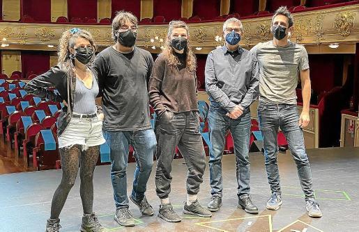 Lluki Portas, Marc Homar, Gal·la Peire, Josep R. Cerdà y Diego Ingold, en el Principal.