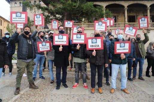 Imagen de una protesta del sector del ocio nocturno celebrada el pasado mes de diciembre.