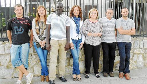 Algunos de los responsables de la asociación: Toni Serra, Cati Ana Campaner, Ousmana Abdulai, Xisca Figuerola, Maria Elena Navarro, José Campaner y José María Campaner.