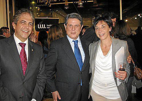 Rafael Bosch, Federico Trillo y Aina Rodríguez.