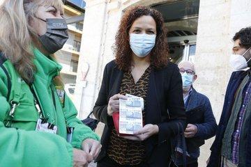 Catalina Cladera, este viernes, durante un acto en la ONCE.