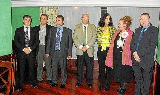 Fernando Dameto, Joan Vanrell, Fernando Valentín, José Mir, Natalia Bueno, Gloria Mulet y Juan José Calero.