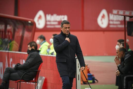 Luis García Plaza, técnico del Mallorca, durante un reciente partido.