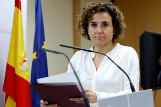 La presidenta de la Comisión de Peticiones, Dolors Montserrat.