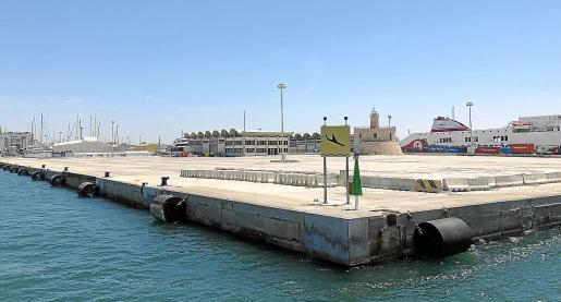 La explanada de 68.000 metros cuadrados ubicada al final del varadero del Moll Vell, a la que optan STP y Astilleros Mallorca, es la única zona industrial que queda por adjudicar para reparar y mantener buques.
