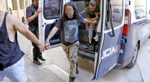 El condenado, a su llegada a los juzgados el día después de cometer la agresión.