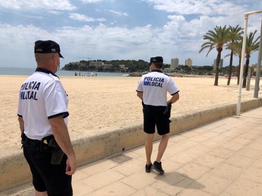 La Policía Local de Calvià interceptó al sospechoso a primera hora de la mañana en la zona de Son Maties.