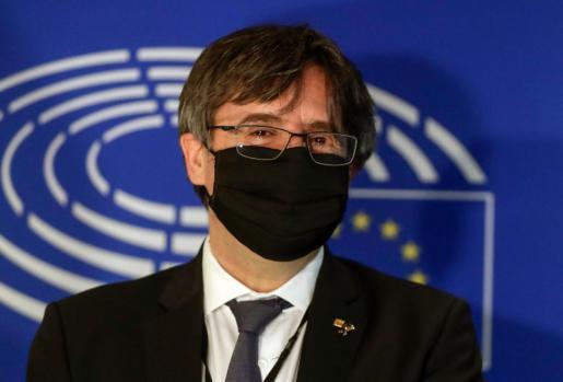 Imagen de archivo de Carles Puigdemont en el Parlamento europeo.