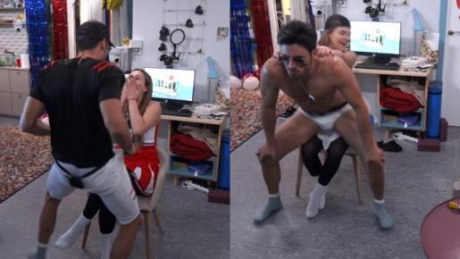 Noel Bayarri le hace un striptease a Marta Peñate tras darse un beso