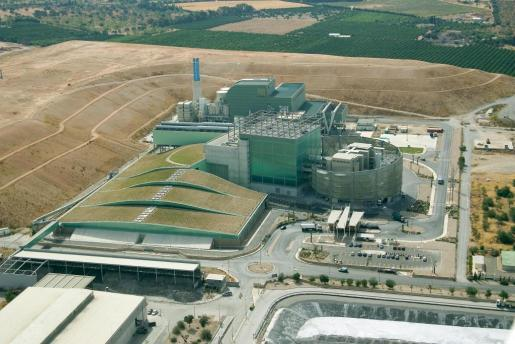 Vista general de la planta incineradora de Son Reus.