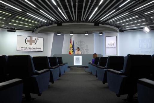 La ministra de Sanidad, Carolina Darias, ofrece una rueda de prensa tras la reunión del Consejo Interterritorial del Sistema Nacional de Salud.