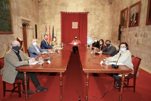 Imagen de la reunión de la Mesa de Diálogo Social.