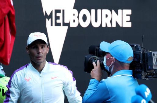 Imagen de Rafael Nadal durante su participación en el Abierto de Australia.