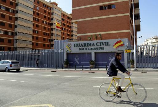 Imagen de la fachada de la comandancia de la Guardia Civil en Palma.