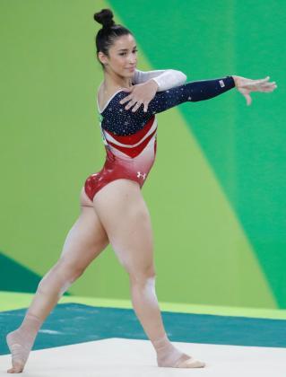 La gimnasta estadounidense Aly Raisman durante una actuación en los Juegos Olímpicos de Rio.