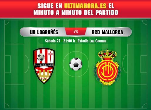 Logroñés y Real Mallorca se enfrentan este sábado en Las Gaunas.