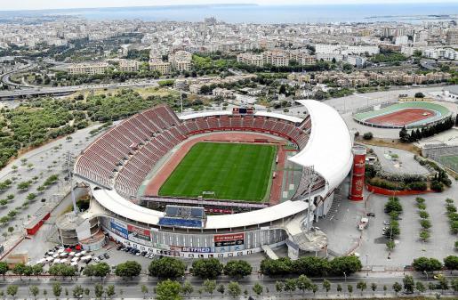 Panorámica del estadio de Son Moix, al que no accede público desde el 1 de marzo de 2020.