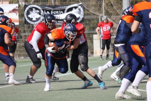 Lance del partido entre los Mallorca Voltors y los Murcia Cobras, en Son Moix.