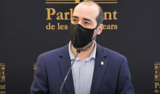 Alejandro López, portavoz del Grupo Parlamentario de Unidas Podemos.