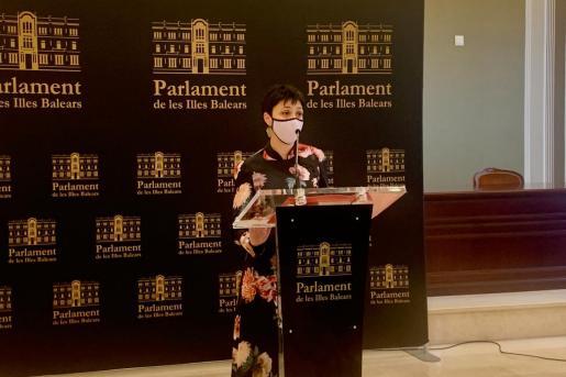 La portavoz adjunta del Grupo Parlamentario Socialista, Silvia Cano.