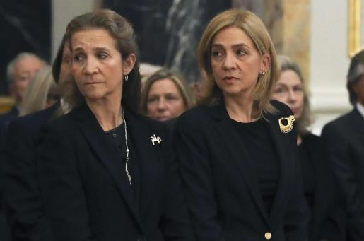 Las infantas Elena y Cristina.