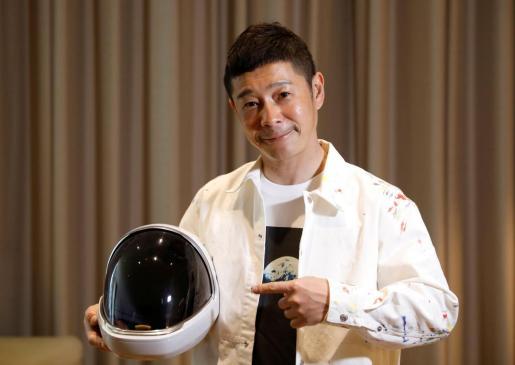 El empresario nipón Yusaku Maezawa.