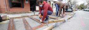 En Palma han reabierto casi el 100% de las terrazas habilitadas en zona de parking