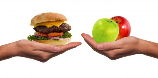El hambre se puede saciar con comida más o menos saludable.