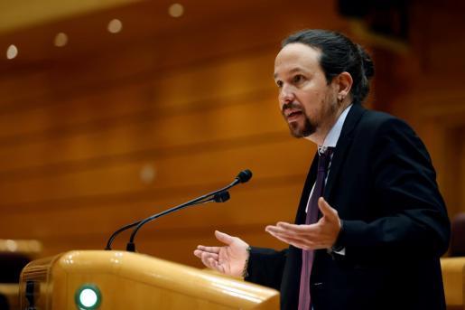 El vicepresidente segundo y ministro de Derechos Sociales y Agenda 2030, Pablo Iglesias, en una reciente imagen,