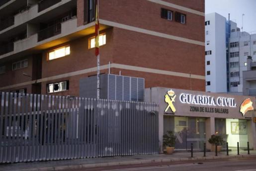 Fachada de las dependencias de la Comandancia de la Guardia Civil en Palma.
