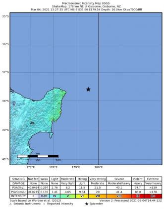 El Servicio Geológico de Estados Unidos (USGS), que vigila la actividad sísmica en todo el mundo, situó el hipocentro del seísmo a 10 kilómetros de profundidad bajo el lecho marino.